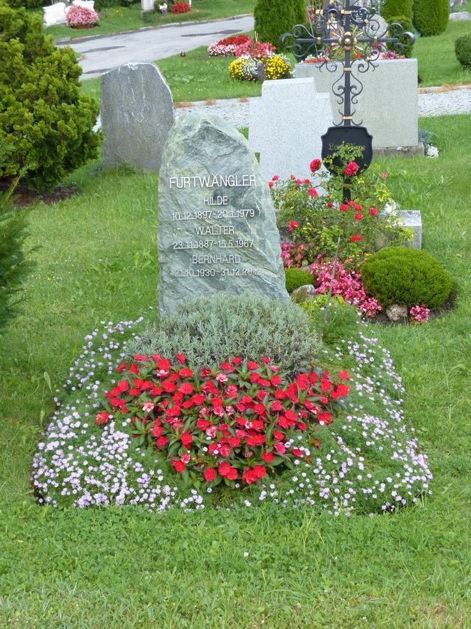 1967 - Das Grab von Walter Furtwängler in Bad Wiessee